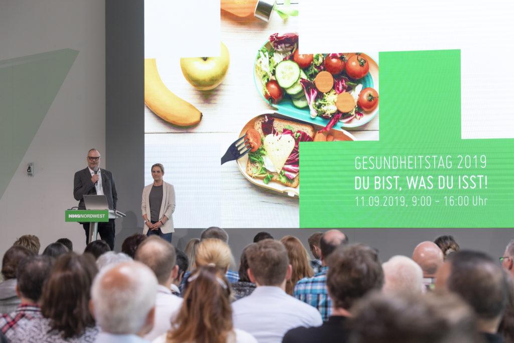 Kick-off zum Gesundheitstag 2019 vom Vorstandsvorsitzenden Andreas Ridder und von Frau Pelz