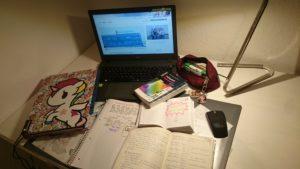 Alles was ich zum lernen brauche (Schokolade ist schon leer!)